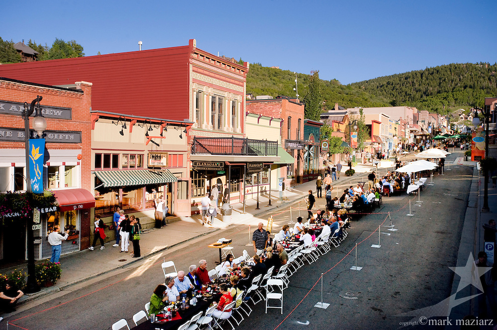 Grande Table event on Historic Main Street, park City Utah