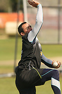 Nicky Boje of the Warriors sends down a delivery during the Warriors training session held at St Georges Park in Port Elizabeth on the 16 September 2010..Photo by: Shaun Roy/SPORTZPICS/CLT20
