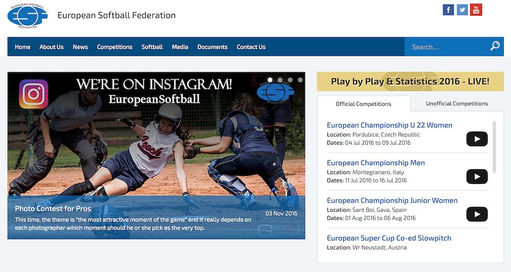 European Softball Federation, 2016.