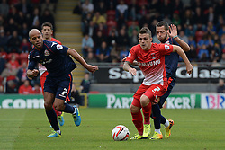 Leyton Orient's Dean Cox runs with the ball   - Photo mandatory by-line: Mitchell Gunn/JMP - Tel: Mobile: 07966 386802 29/09/2013 - SPORT - FOOTBALL -  Matchroom Stadium - London - Leyton Orient v Walsall - Sky Bet League One