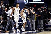 Xavier Guard KyKy Tandy (24) walks off the court after getting hit in the mouth during an NCAA college basketball game against Green Bay, Wednesday, Dec. 4, 2019, in Cincinnati. Xavier defeated Green Bay 84-71 (Jason Whitman/Image of Sport)