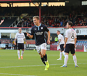 Greg Stewart celebrates after putting Dundee 1-0 ahead  - Dundee v Raith Rovers, Scottish League Cup at Dens Park<br /> <br />  - &copy; David Young - www.davidyoungphoto.co.uk - email: davidyoungphoto@gmail.com