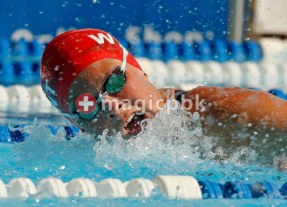Later winner Martina van Berkel of Switzerland competes in the women's 200m butterfly final in the Schwimmbad Arbon at the Swimming Swiss Summer Championships in Arbon, Switzerland, Sunday, July 22, 2007. (Photo by Patrick B. Kraemer / MAGICPBK)