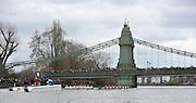 Putney- Mortlake, LONDON, GREAT BRITAIN,  both crews approach Hammersmith Bridge. 2012 Boat Race, Oxford University vs Cambridge University. racing over the championship course. Putney/Mortlake, Saturday  07/04/2012  [Mandatory Credit, Peter Spurrier/Intersport-images]..Crews:.OUBC. Bow Dr. Alexander WOODS, 2. William ZENG, 3. Kevin BAUM, 4. Alex DAVIDSON,5. Karl HUDSPITH, 6. Dr. Hanno WIENHAUSEN, 7. Dan HARVEY, Stk. Roel HAEN, Cox. Zoe DE TOLEDO...CUBC. Bow. David NELSON, 2. Moritz SCHRAMM, 3. Jack LINDEMAN, 4. Alex ROSS , 5.Michael THORP, 6. Steve DUDEK, 7 Alexander SCHARP, Stk. Niles GARRETT . Cox. Ed BOSSON .