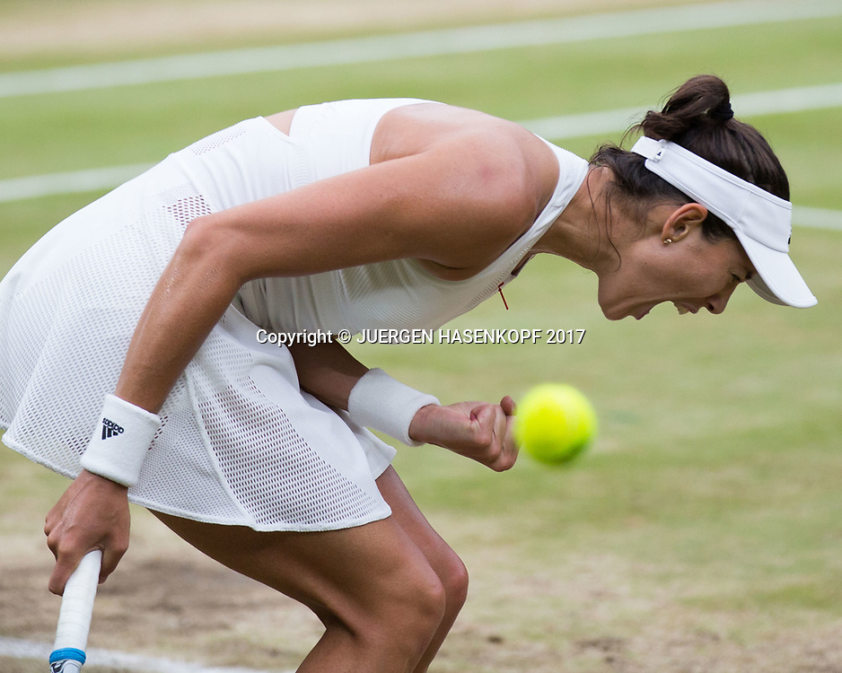 GARBI&Ntilde;E MUGURUZA (ESP) macht die Faust und jubel,Jubel,Emotion, Endspiel, Final<br /> <br /> Tennis - Wimbledon 2016 - Grand Slam ITF / ATP / WTA -  AELTC - London -  - Great Britain  - 15 July 2017.