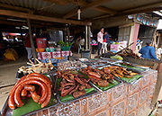 Laos, Luang Prabang Province. The market at Phou Khoun.