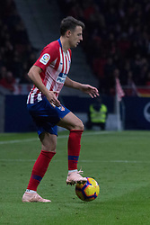 October 27, 2018 - Madrid, Madrid, Spain - Arias whit the ball..during the match between Atletico de Madrid vs Real Sociedad. Atletico de Madrid won by 2 to 0 over Real Sociedad whit goals of Godin and Filipe Luis. (Credit Image: © Jorge Gonzalez/Pacific Press via ZUMA Wire)