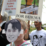 Free Burma demosntration in Dublin