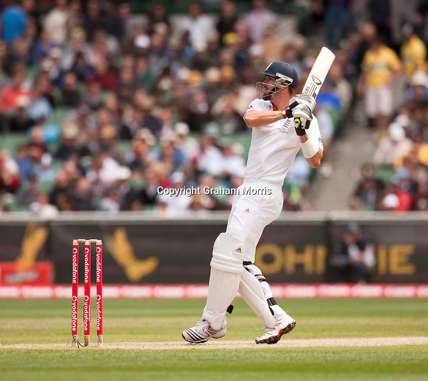 Kevin Pietersen bats during the fourth Ashes test match between Australia and England at the MCG in Melbourne, Australia. Photo: Graham Morris (Tel: +44(0)20 8969 4192 Email: sales@cricketpix.com) 27/12/10