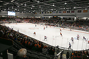 The Gene Polisseni Center hosts a game between the RIT Men's Hockey team and Brock University on Saturday, October 4, 2014.