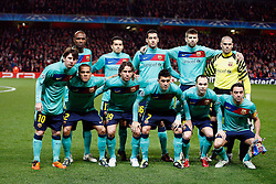 16.02.2011, Emirates Stadium, London, ENG, UEFA CL, FC Arsenal vs FC Barcelona, im Bild Barcelona line up  in Arsenal vs Barcelona for the UCL  ,Round of last 16, at the Emirates Stadium in London on 16/02/2011, EXPA Pictures © 2011, PhotoCredit: EXPA/ IPS/ Kieran Galvin +++++ ATTENTION - OUT OF ENGLAND/GBR and France/ FRA +++++