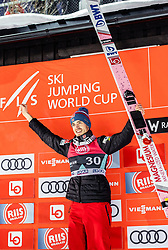 14.03.2019, Granasen, Trondheim, NOR, FIS Weltcup Skisprung, Raw Air, Trondheim, Einzelbewerb, Herren, Siegerehrung, im Bild 2. Platz Andreas Stjernen (NOR) // 2nd placed Andreas Stjernen of Norway during the winner ceremony for the men's individual competition of the 3rd Stage of the Raw Air Series of FIS Ski Jumping World Cup at the Granasen in Trondheim, Norway on 2019/03/14. EXPA Pictures © 2019, PhotoCredit: EXPA/ JFK