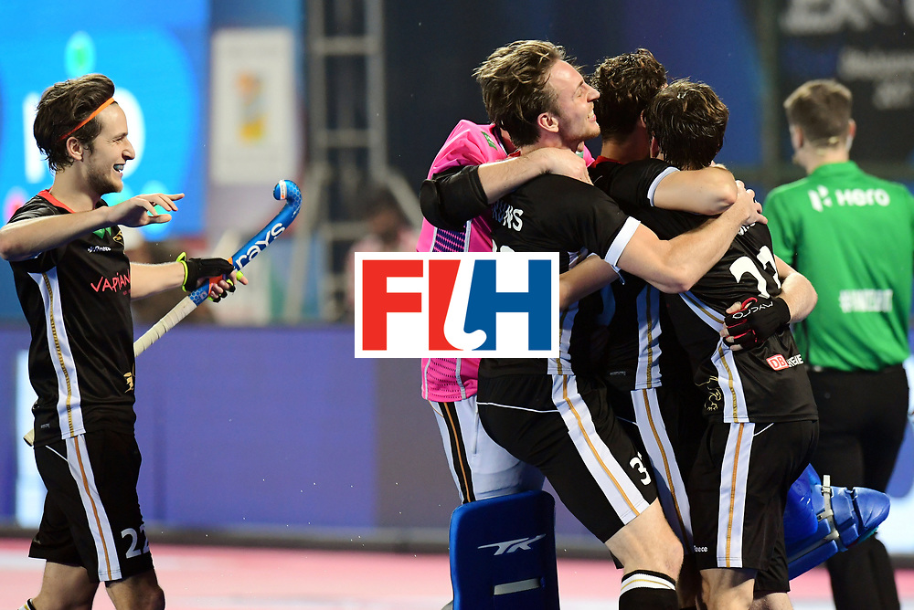 Odisha Men's Hockey World League Final Bhubaneswar 2017<br /> Match id:16<br /> Germany v Netherlands<br /> Foto: Shoot Out <br /> Germany wins the shoot out<br /> Niklas Bruns (Ger) <br /> COPYRIGHT WORLDSPORTPICS FRANK UIJLENBROEK