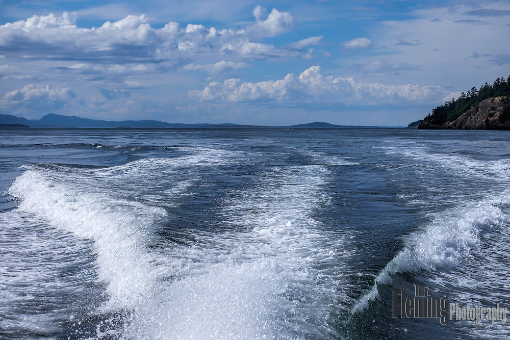 The Haro Strait separates Vancouver Island in Canada from the San Juan Islands in Washington, United Sates.