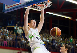 Alen Omic of Slovenia during basketball match between National teams of Slovenia and Spain in Qualifying Round of U20 Men European Championship Slovenia 2012, on July 18, 2012 in Domzale, Slovenia. Slovenia defeated Spain 70-63. (Photo by Vid Ponikvar / Sportida.com)