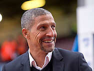 Brighton and Hove Albion manager Chris Hughton smiles before the Sky Bet Championship match at Turf Moor, Burnley<br /> Picture by Russell Hart/Focus Images Ltd 07791 688 420<br /> 22/11/2015