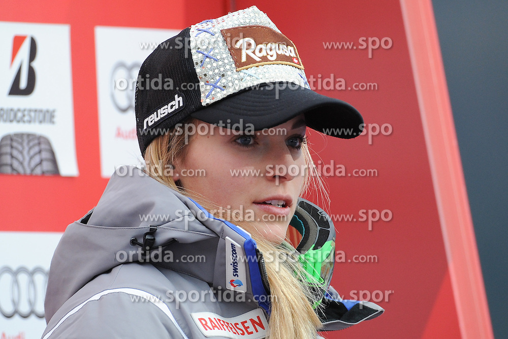 07.02.2016, Kandahar, Garmisch Partenkirchen, GER, FIS Weltcup Ski Alpin, Garmisch Partenkirchen, Super G, Damen, im Bild Lara Gut (SU 1.PlatzI) // Lara Gut of Switzerland winner reacts after her run of the ladies Super G of Garmisch FIS Ski Alpine World Cup at the Kandahar in Garmisch Partenkirchen, Germany on 2016/02/07. EXPA Pictures © 2016, PhotoCredit: EXPA/ Erich Spiess
