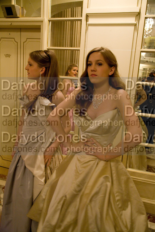 ANNA HESKETH; VIOLET HESKETH The 2008 Crillon Debutante Ball. Getting Ready the Day before. Crillon Hotel. Paris. 29 November 2008. *** Local Caption *** -DO NOT ARCHIVE-© Copyright Photograph by Dafydd Jones. 248 Clapham Rd. London SW9 0PZ. Tel 0207 820 0771. www.dafjones.com.