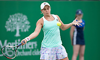 NOTTINGHAM, ENGLAND - JUNE 17: Ashleigh Barty of Australia in action against Johanna Konta of Great Britain during Day Nine of the Nature Valley Open at Nottingham Tennis Centre on June 17, 2018 in Nottingham, United Kingdom. (MB Media)