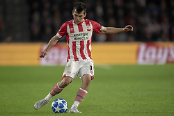 October 4, 2018 - Eindhoven, Netherlands - Hirving Lozano of PSV kicks the ball during the UEFA Champions League Group B match between PSV Eindhoven and FC Internazionale Milano at Philips Stadium in Eindhoven, Holland on October 3, 2018  (Credit Image: © Andrew Surma/NurPhoto/ZUMA Press)