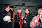 DOMINIC BERNING; RICHARD STRANGE; LOUISA BUCK; GAVIN TURK. demons, yarns and tales. Tapestries by Contemporary Artists. Exhibition curated by Banners of Persuasion. The Dairy, Wakefield st. WC1. 11 November 2008.  *** Local Caption *** -DO NOT ARCHIVE -Copyright Photograph by Dafydd Jones. 248 Clapham Rd. London SW9 0PZ. Tel 0207 820 0771. www.dafjones.com