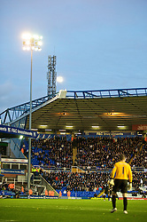 BIRMINGHAM, ENGLAND - Sunday, November 1, 2009: A full moon over St Andrews as Birmingham City take on Manchester City during the Premiership match. (Pic by David Rawcliffe/Propaganda)