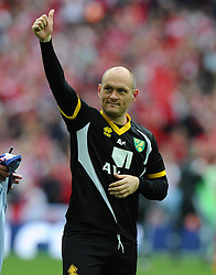 Norwich City Manager, Alex Neil celebrates on the final whistle as Norwich City win promotion to the premier league   - Photo mandatory by-line: Joe Meredith/JMP - Mobile: 07966 386802 - 25/05/2015 - SPORT - Football - London - Wembley Stadium - Middlesbrough v Norwich - Sky Bet Championship - Play-Off Final
