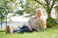 Hannah senior portrait session.  ©2015 Karen Bobotas Photographer
