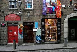 IRELAND DUBLIN 6FEB06 - Funky shopfront in Dublin's trendy Temple Bar district.. . jre/Photo by Jiri Rezac. . © Jiri Rezac 2006. . Contact: +44 (0) 7050 110 417. Mobile:  +44 (0) 7801 337 683. Office:  +44 (0) 20 8968 9635. . Email:   jiri@jirirezac.com. Web:    www.jirirezac.com. . © All images Jiri Rezac 2006 - All rights reserved.