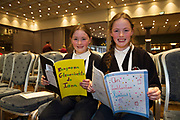 Scriobh Leabhair  Galway Education Centre's booking writing competition for National School pupils At the Radisson Blu saw hundreds of Children awarded for their Writing Skill.<br /> At the event was  Grace and Jane Ni Ainl&iacute; Scoil Einne. Photo:Andrew Downes, xposure