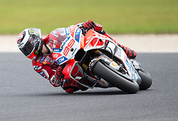 October 20, 2017 - Melbourne, Victoria, Australia - Spanish rider Jorge Lorenzo (#99) of Ducati Team in action during the second free practice session at the 2017 Australian MotoGP at Phillip Island, Australia. (Credit Image: © Theo Karanikos via ZUMA Wire)