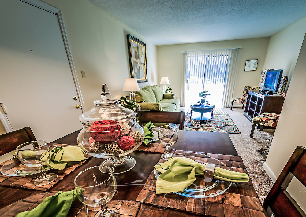 Dining room at Autumn Woods Apartments on Foreman Road in Mobile, Alabama. The property is owned and operated by Sealy Management Co. (Photo by Carmen K. Sisson/Cloudybright)