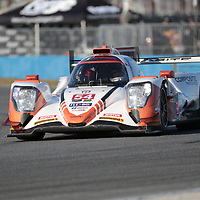 January 06, 2018 - Daytona Beach, Florida, USA:  The CORE autosport Composite Resources ORECA LMP2 races through the turns at the Roar Before The Rolex 24 at Daytona International Speedway in Daytona Beach, Florida.