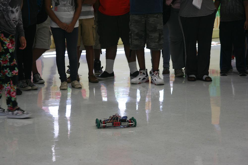 Furr HS Summer Bridge program STEM exhibit