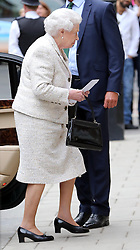 The Queen arriving at The London Clinic to visit her husband the Duke of Edinburgh who spent his 92nd birthday in hospital in London, Monday, 10th June 2013<br /> Picture by Stephen Lock / i-Images