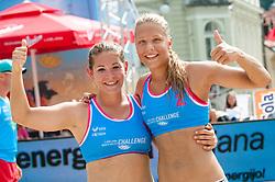 Tjasa Jancar and Nina Lovsin at Beach Volleyball Challenge Ljubljana 2014, on August 1, 2014 in Kongresni trg, Ljubljana, Slovenia. Photo by Matic Klansek Velej / Sportida.com