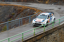 17.01.2014, Sisteron, FRA, FIA, WRC, Monte Carlo, 2. Tag, im Bild MIKKELSEN Andreas / MARKKULA Mikko ( VOLKSWAGEN MOTORSPORT II (DEU) / VOLKSWAGEN POLO R ) during day two of FIA Rallye Monte Carlo held near Monte Carlo, France on 2014/01/17. EXPA Pictures © 2014, PhotoCredit: EXPA/ Eibner-Pressefoto/ Neis<br /> <br /> *****ATTENTION - OUT of GER*****