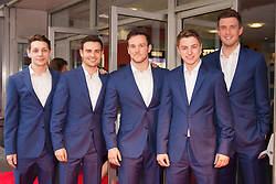 Odeon West End, London, June 16th 2014. BGT winners Collabro on the red carpet at the Odeon West End in Leicester Square, London, for the Gala Screening of Clint Eastwood's big screen version of the Tony Award winning musical Jersey Boys.