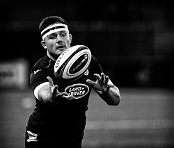 Ellis Jenkins of Cardiff Blues during the pre match warm up<br /> <br /> Photographer Simon King/Replay Images<br /> <br /> Guinness PRO14 Round 4 - Cardiff Blues v Munster - Friday 21st September 2018 - Cardiff Arms Park - Cardiff<br /> <br /> World Copyright © Replay Images . All rights reserved. info@replayimages.co.uk - http://replayimages.co.uk