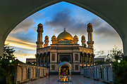 The Jame' 'Asr Hassanil Bolkiah Mosque has 29 golden domes, one for each of the Sultans of the world's oldest ruling dynasty, Bandar Seri Begawan, Brunei