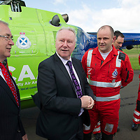 Scotland's Charity Air Ambulance (SCAA) launches from Perth Airport....22.05.13<br /> Alex Neil pictured with Bruce Rumgay.<br /> Picture by Graeme Hart.<br /> Copyright Perthshire Picture Agency<br /> Tel: 01738 623350  Mobile: 07990 594431