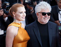 Jessica Chastain and Pedro Almodovar  at the 70th Anniversary Ceremony arrivals at the 70th Cannes Film Festival Tuesday 23rd May 2017, Cannes, France. Photo credit: Doreen Kennedy