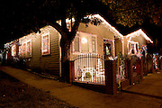 Echo Park district of Los Angeles has many humble homes with millions of lights at Christmas, exhibiting abundance in times of scarcity.