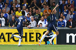 Tom Hopper of Southend United celebrates scoring his sides first goal of the game - Mandatory by-line: Ryan Hiscott/JMP - 25/08/2018 - FOOTBALL - Memorial Stadium - Bristol, England - Bristol Rovers v Southend United - Sky Bet League One