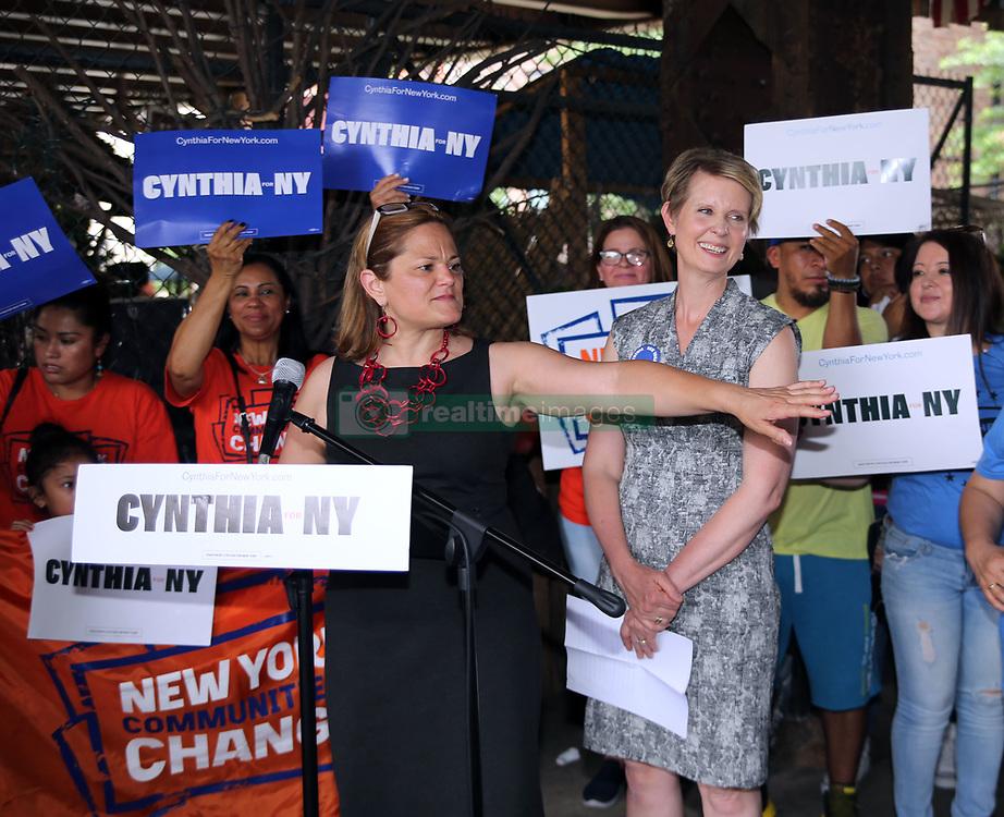 Nyc City Councilwoman Melissa Mark-Viverito endorses Cynthia Nixon for Ny State Governor. 01 Jul 2018 Pictured: Melissa Mark - Viverito, Cynthia Nixon. Photo credit: SteveSands/NewYorkNewswire/MEGA TheMegaAgency.com +1 888 505 6342