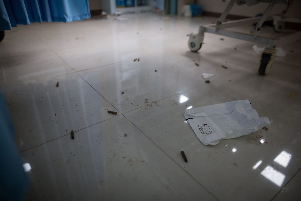 MARAWI, PHILIPPINES - JUNE 12: Bullets are seen scattered on an abandoned hospital floor after a heavy fight, as government soldiers continue their assault against the Maute group, in Marawi City, Philippines June 12, 2017. (Photo: Richard Atrero de Guzman/NUR Photo)