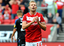 Andreas Weimann of Bristol City shows a look of dejection after missing a chance to score   - Mandatory by-line: Nizaam Jones/JMP- 18/08/2018 - FOOTBALL - Ashton Gate Stadium - Bristol, England - Bristol City v Middlesbrough - Sky Bet Championship