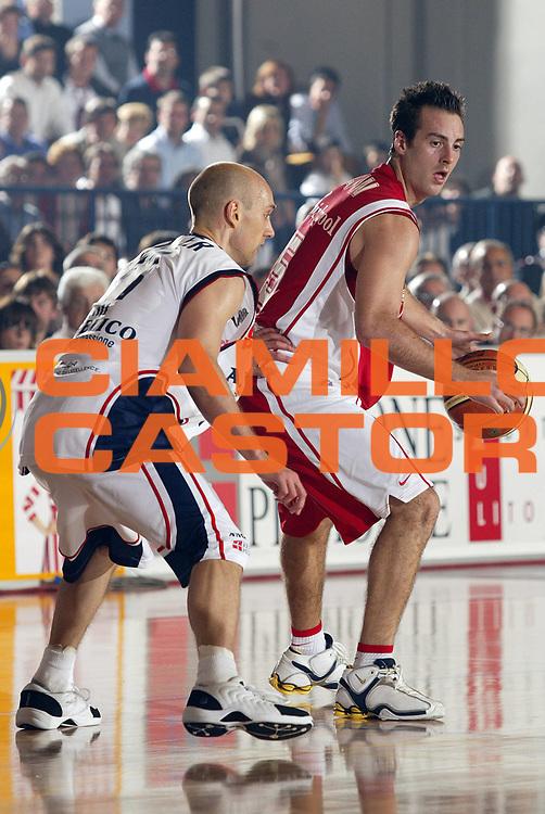 DESCRIZIONE : Biella Lega A1 2006-07 Angelico Biella Whirlpool Varese<br /> GIOCATORE : Capin<br /> SQUADRA : Whirlpool Varese<br /> EVENTO : Campionato Lega A1 2006-2007 <br /> GARA : Angelico Biella Whirlpool Varese<br /> DATA : 19/11/2006 <br /> CATEGORIA : Palleggio<br /> SPORT : Pallacanestro <br /> AUTORE : Agenzia Ciamillo-Castoria/E.Pozzo