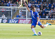 Jake Carroll (Hartlepool United)  during the Sky Bet League 2 match between Hartlepool United and Cambridge United at Victoria Park, Hartlepool, England on 19 September 2015. Photo by George Ledger.