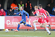 Sean Rigg forward for AFC Wimbledon (11) in action during the Sky Bet League 2 match between AFC Wimbledon and Accrington Stanley at the Cherry Red Records Stadium, Kingston, England on 5 March 2016. Photo by Stuart Butcher.